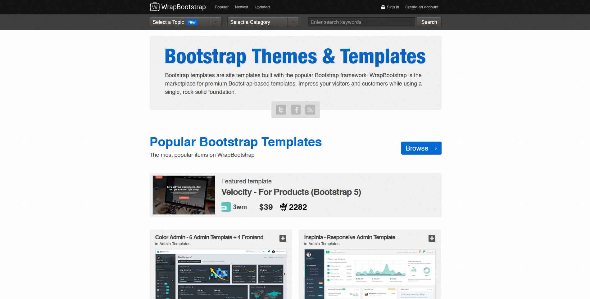 The 5 best Bootstrap marketplaces to download free and premium templates
